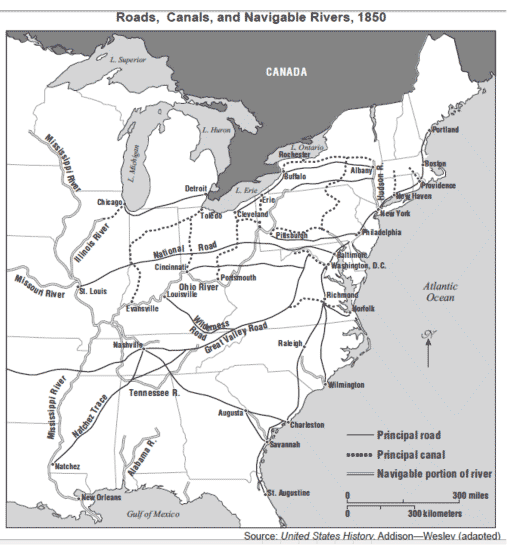 Railroads Steamships Canals Henry Clay The Man With A Plan - Us river transportation map